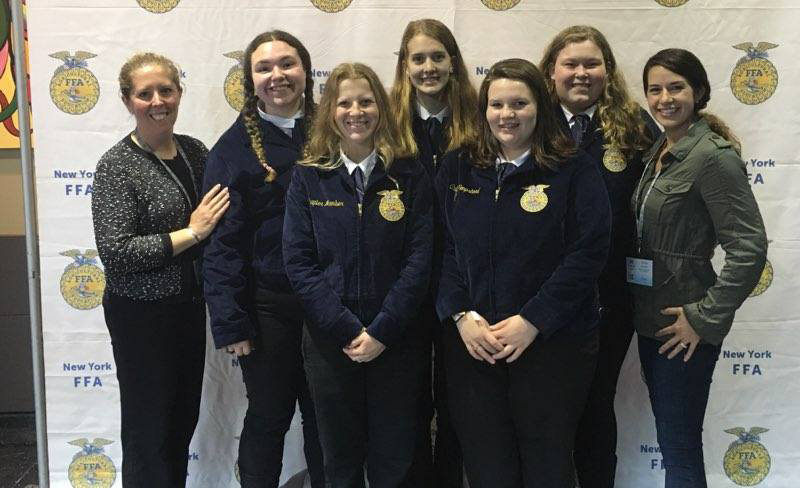 The BKW FFA chapter poses for a picture at the New York state convention