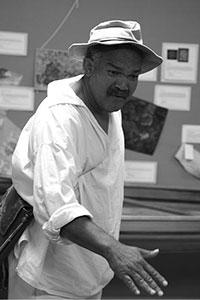 Historical reenactor Clifford Oliver