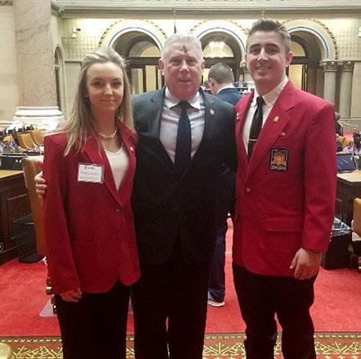 Brianna, Assemblymember McDonald, Aidan Enders