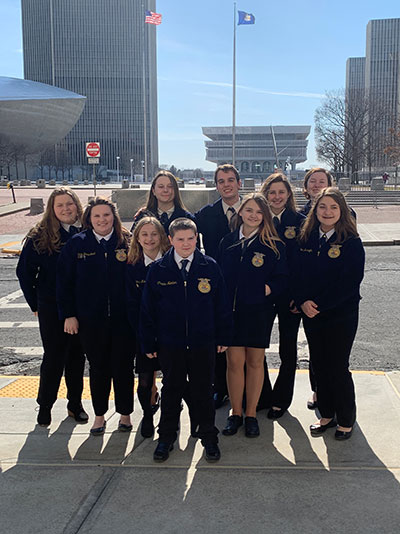 FFA students at the Empire State Plaza