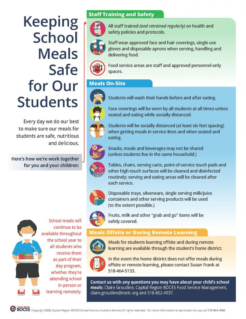 graphic about safe school meals