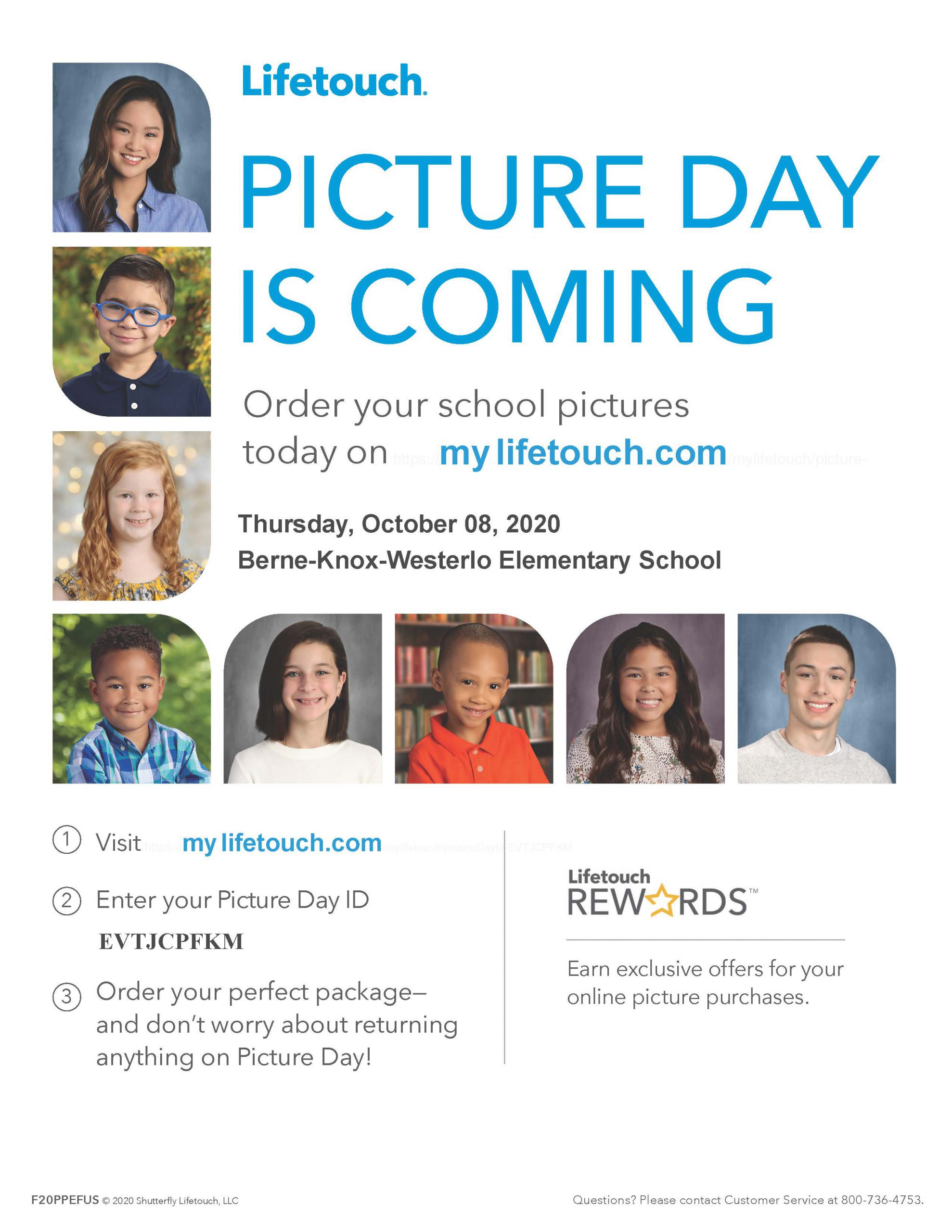 BKW Elementary Picture Day flier